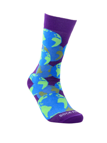 Globe Pattern Right - Sock Panda