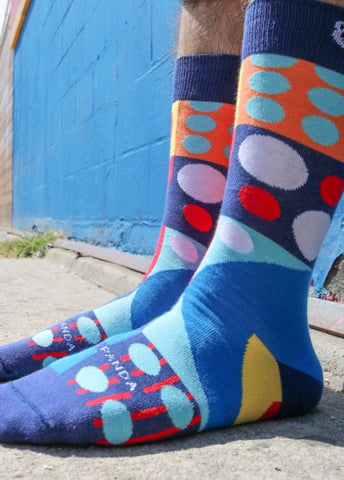 Abstract Geometric Pattern Lifestyle - Sock Panda