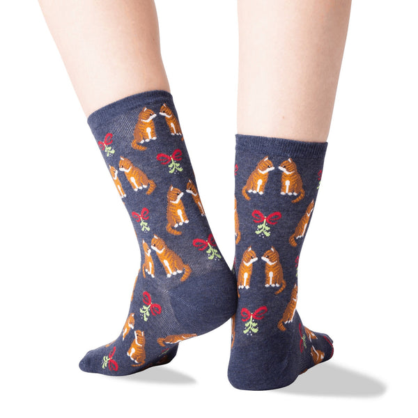 Mistletoe Cats Lifestyle Both Back - Sock Panda