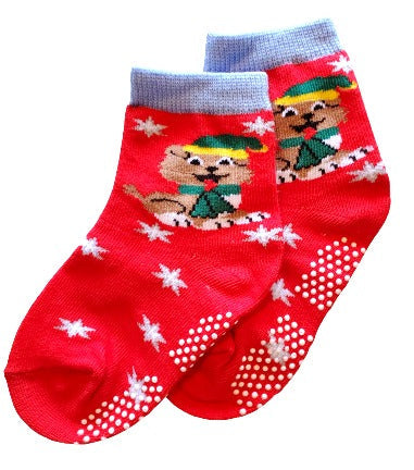 Holiday Puppy Dog Sock - Sock Panda