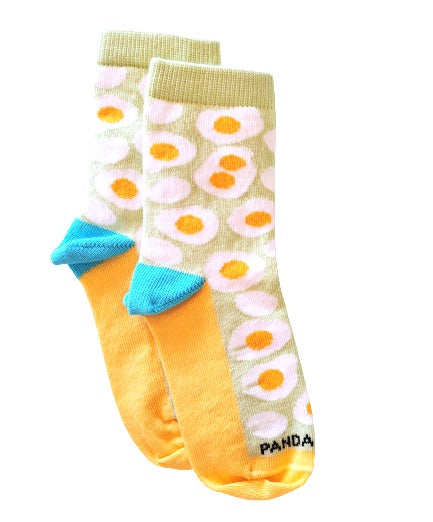 kids egg sock flat side - sock panda