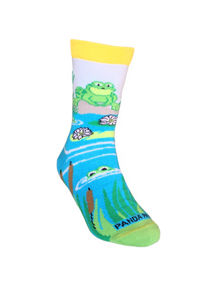Playful Frogs Right - Sock Panda