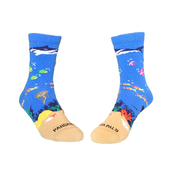 Shark in the Ocean Both - Sock Panda