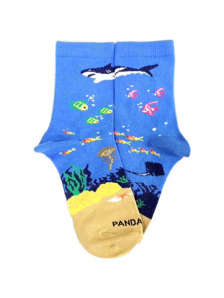 Shark in the Ocean Flat - Sock Panda