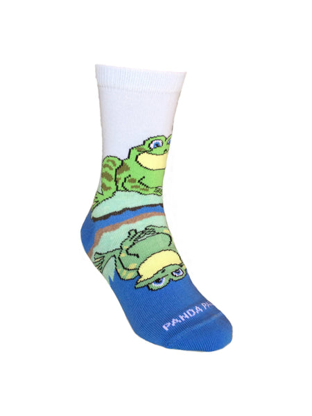 Reflective Frog Front Left - Sock Panda