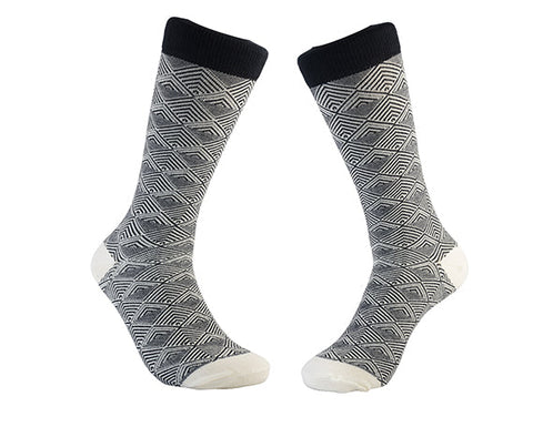 Black and White Pattern Both - Sock Panda