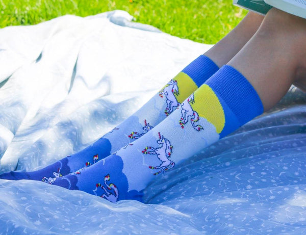 Majestic Flying Unicorns in the Clouds Sock - Sock Panda