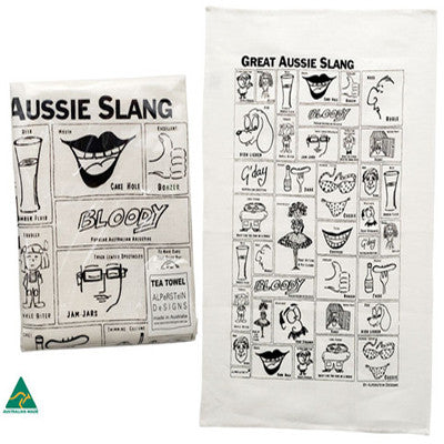 Aussie Slang Tea Towel
