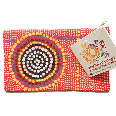 Cotton Zip Bag by Aborginal Artist Debbie Brown