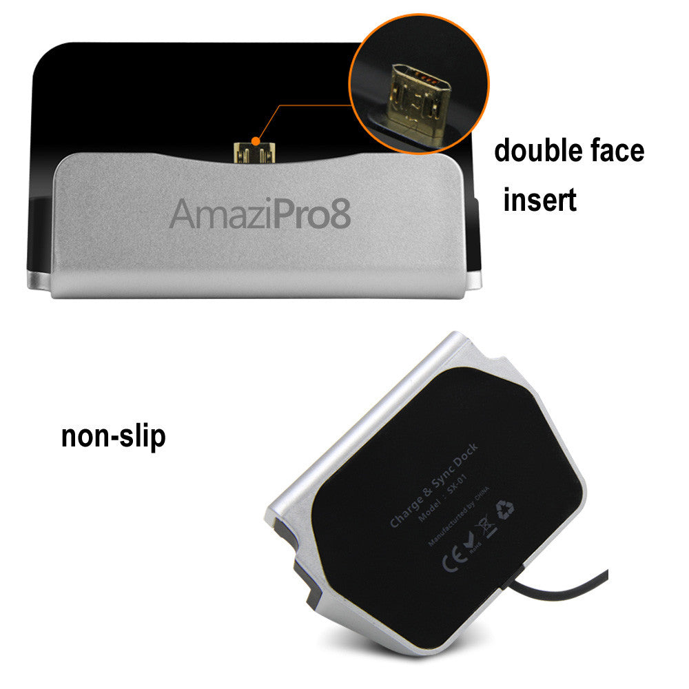 Universal Charger Docking Station for Android Smartphone Bundle - AmaziPro8
