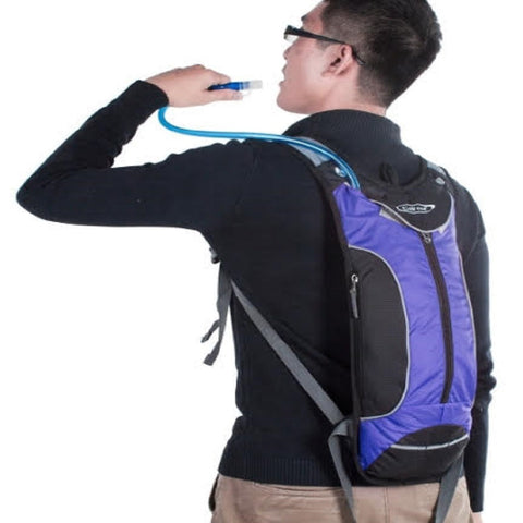 Hydration 2L Bladder Water Reservoir Backpack + FREE Survival Keychain Whistle
