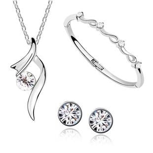 Fashion Jewelry Sets - Set includes Earrings + Bracelet + Pendant + Necklace For Young Girls and Teenagers - FREE SHIPPING - AmaziPro8