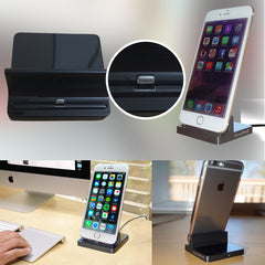 AmaziPro8 iPhone Charger Docking Station, Cradle Charging Sync Dock Station for Apple iPhone 6 Plus 6 5 5S 5C (Black) + FREE SHIPPING - AmaziPro8