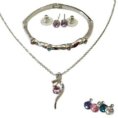 AmaziPro8 Fashion Jewelry- Set includes Earrings + Bracelet + Pendant + Necklace  + FREE SHIPPING - AmaziPro8