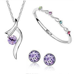 AmaziPro8 Fashion Jewelry- Set includes Earrings + Bracelet + Pendant + Necklace  + FREE SHIPPING