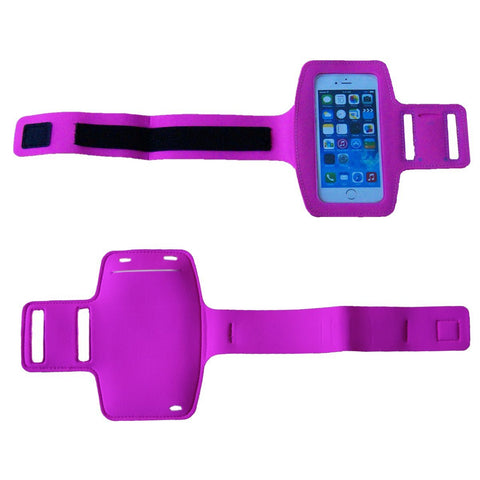 AmaziPro8 Sports Armband + Free Key Holder - Sporty Armband For iPhone 6 Plus - Also Compatible for Samsung Note 3 & Note 4 - PINK + FREE SHIPPING