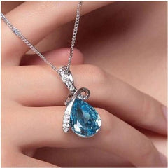 blue pendant Crystal High-Grade Jewelry set