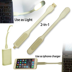 AmaziPro8 2-in-1 Mini USB LED Light + Lightning Cable for iPhone6, 6s, iPhone6 Plus, 6s Plus and iPhone 5 series + FREE SHIPPING - AmaziPro8