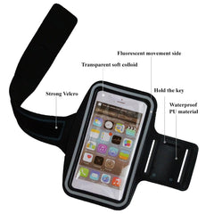 AmaziPro8 Sports Armband + Free Key Holder - Sporty Armband For iPhone 6 Plus Also Compatible for Samsung Note 3 & Note 4 - GREY + FREE SHIPPING - AmaziPro8