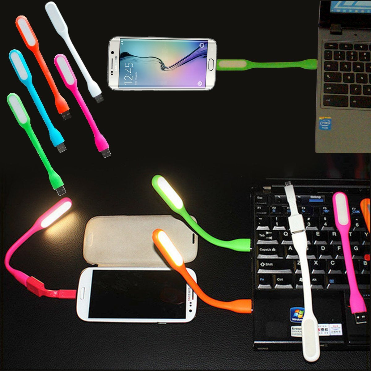 AmaziPro8 2-in-1 Mini USB LED Light + Charge Sync Cable For Android Micro USB + + FREE SHIPPING - AmaziPro8