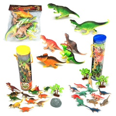 Dinosaur Figures With 1 Dinosaurs ebook and 2 Orgami eBooks, Pack of 30 dinosaurs Playset, Best dinosaur toys - AmaziPro8