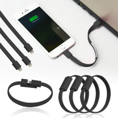 Bracelet Lightning to USB Cable with Data Sync and Charging Cable + mini stylus pen + anti dust plug - AmaziPro8