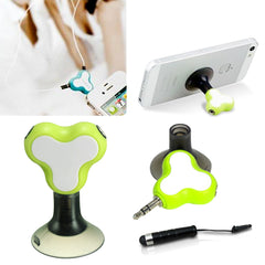 Earphone Splitter + Phone Holder + Mini Stylus Pen + Anti Dust Plug - AmaziPro8