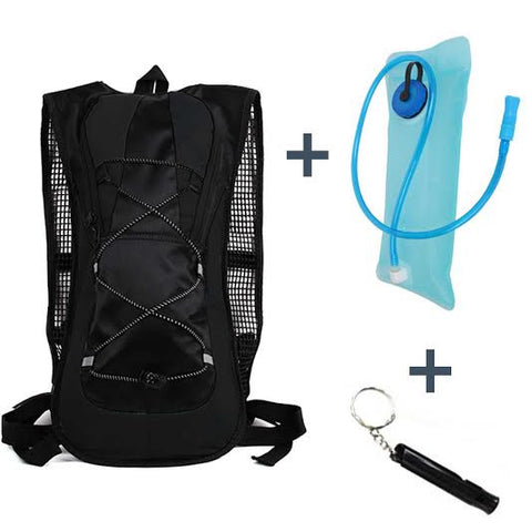 Hydration 2L Bladder Water Reservoir Backpack + FREE Survival Keychain Whistle - AmaziPro8
