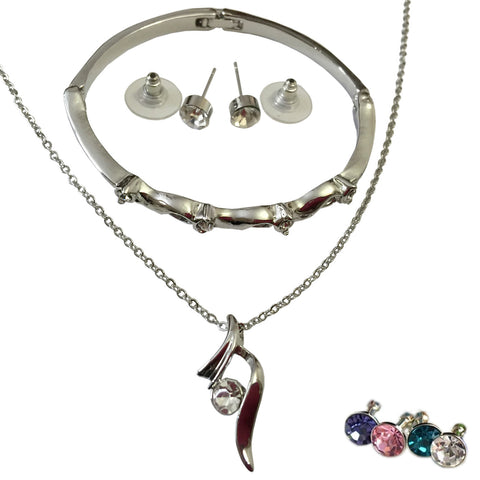Fashion Jewelry Sets - Set includes Earrings + Bracelet + Pendant + Necklace For Young Girls and Teenagers - FREE SHIPPING