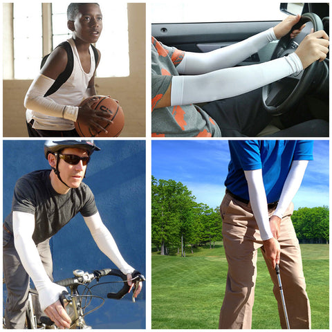 Sports Cooling Arm Sleeves UV Protection + FREE Reflective Band + FREE SHIPPING