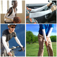 Sports Cooling Arm Sleeves UV Protection + FREE Reflective Band + FREE SHIPPING - AmaziPro8