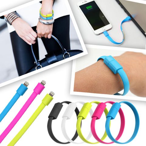 Bracelet Lightning to USB Cable with Data Sync and Charging Cable + mini stylus pen + anti dust plug