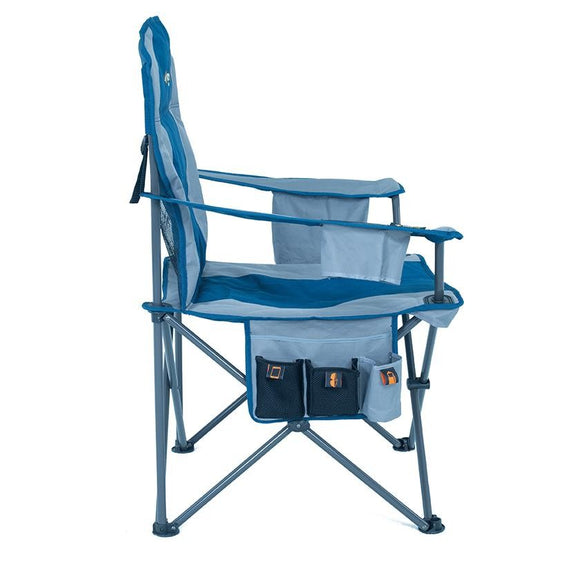 OZTRAIL COOLER ARM CHAIR BLUE