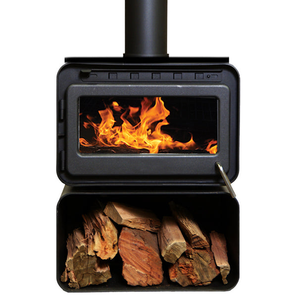 Blaze B100 Heater - with approved wood storage
