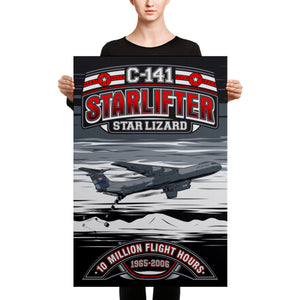 C-141 Starlifter 10 Million Flight Hours - Canvas - Mil-Spec Customs