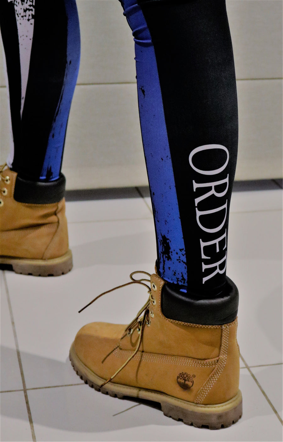 The Thin Blue Line - 100% American Made Leggings - Mil-Spec Customs