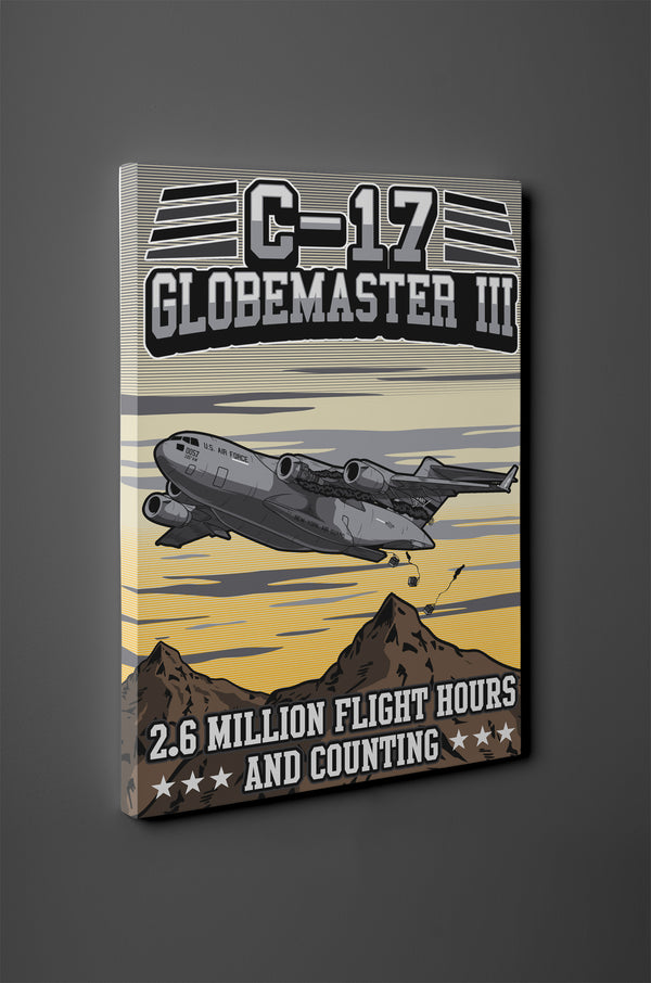 C-17 Globemaster Canvas - 2.6 Million Flight Hours and Counting - Mil-Spec Customs