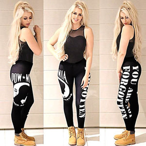 BLACK OUT EDITION POW*MIA Leggings