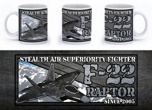 F-22 Raptor Mug - Mil-Spec Customs