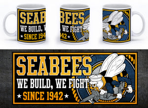 Seabees - We Build, We Fight Mug - Mil-Spec Customs