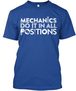 MECHANICS DO IT IN ALL POSITIONS - Mil-Spec Customs