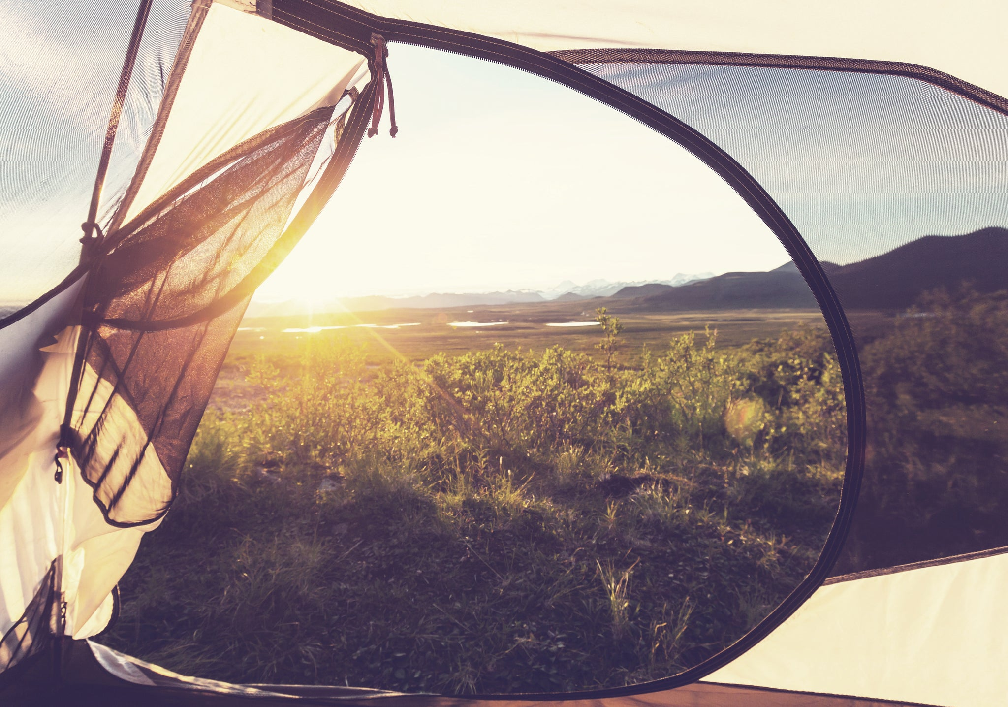 Keep cool with camping shade