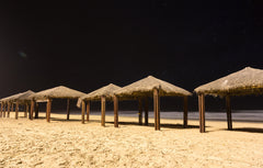 wooden gazeebo beach shade