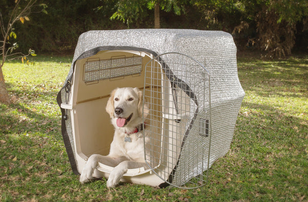 Dog shade with Aluminet shade cloth