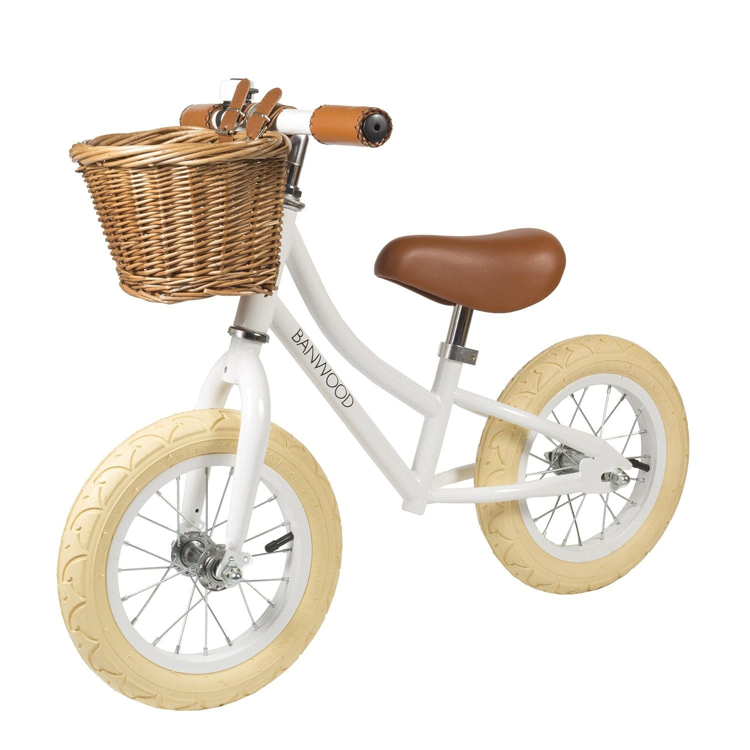 BANWOOD FIRST GO BALANCE BIKE, WHITE - Hello Little Birdie
