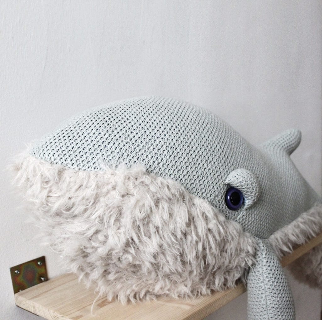 BigStuffed GrandMa Whale, Small (PRE-ORDER OCT) - Hello Little Birdie
