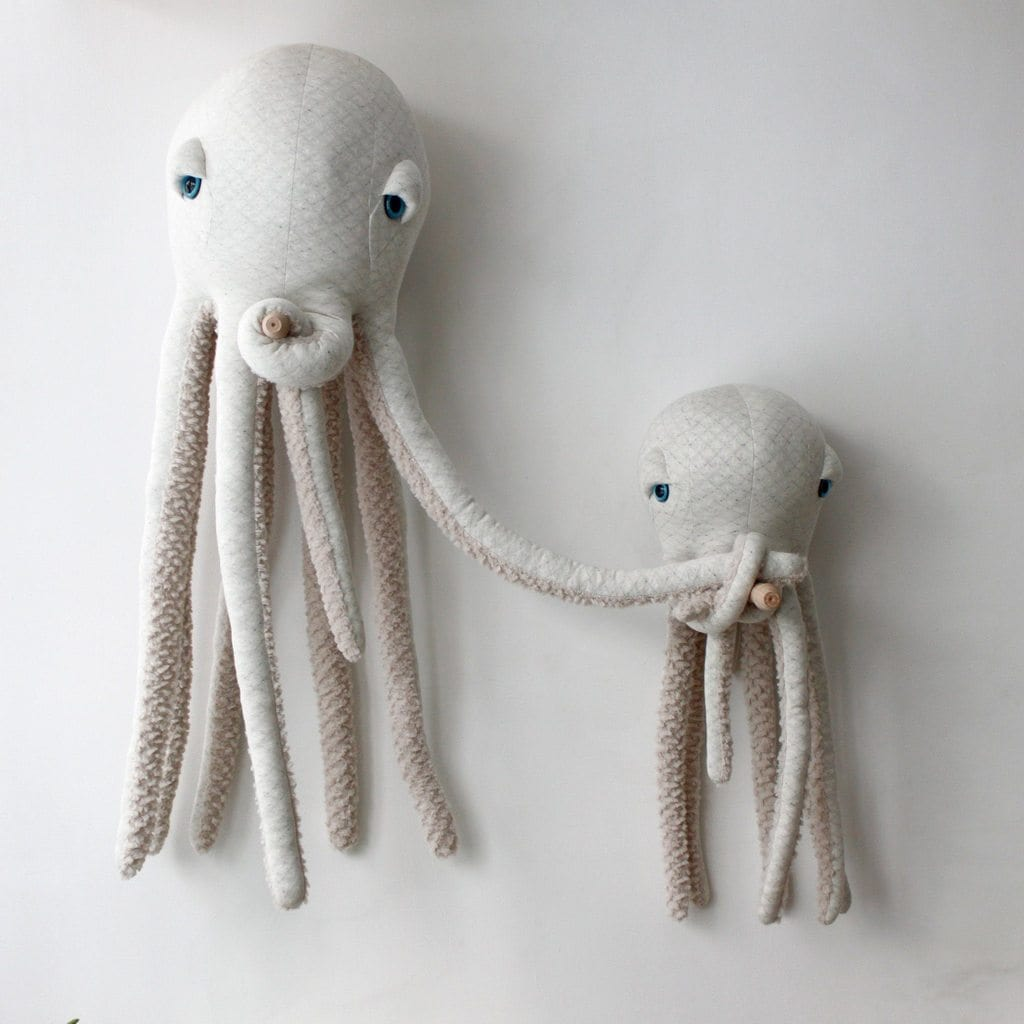 BigStuffed Albino Octopus, Small - Hello Little Birdie
