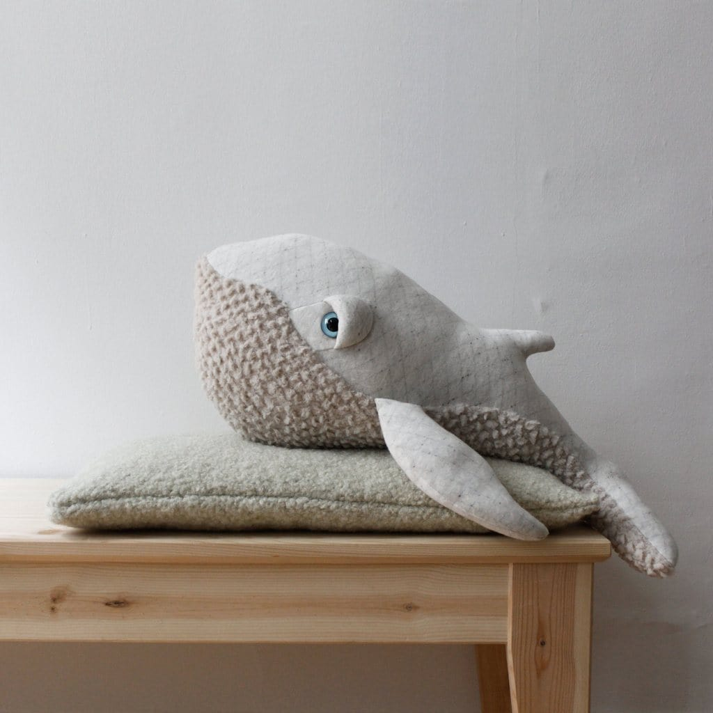 BigStuffed Albino Whale, Small - Hello Little Birdie