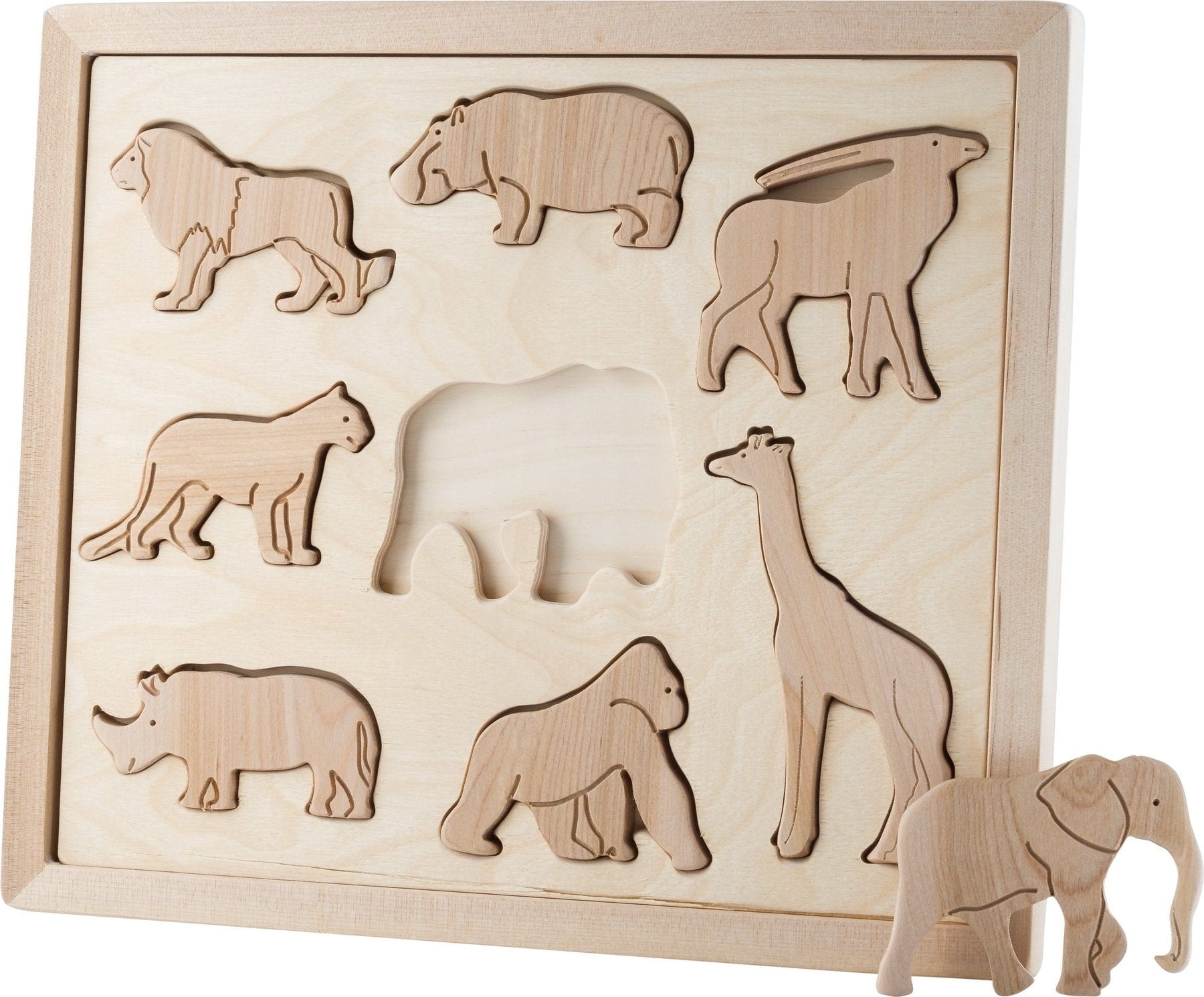 Kubi Dubi Wooden Sorting Puzzle, Animals Of Africa - Hello Little Birdie