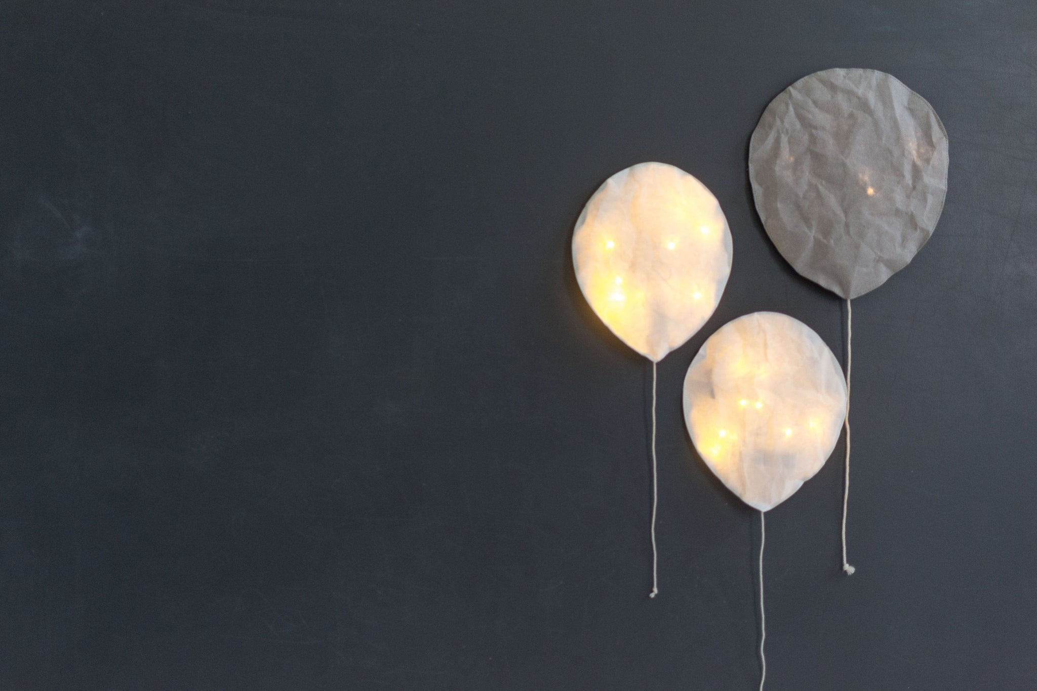 Ekaterina Galera, Paper Coloured Light Balloon, Grey Small - Hello Little Birdie